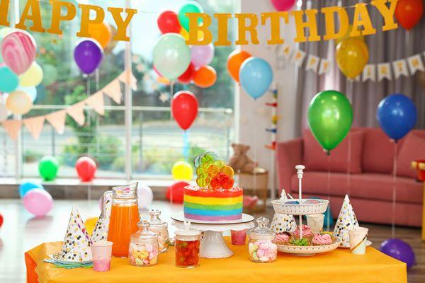 Luftballons Dekor Geburtstag